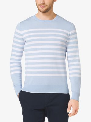 Striped Cotton Sweater by Michael Kors