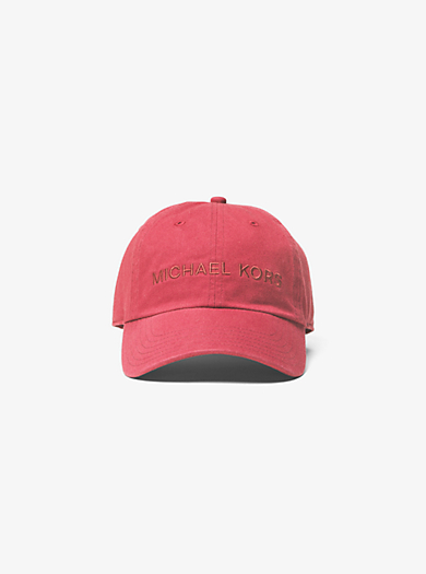 Logo Cotton Cap by Michael Kors