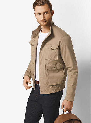 Cotton-Twill Bomber by Michael Kors