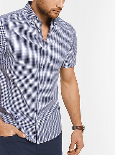 Slim-fit-Hemd aus Baumwolle mit Vichykaro by Michael Kors