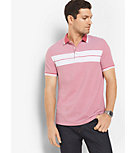 Greenwich Striped Cotton Polo Shirt