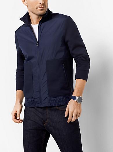 Zip-Up Cotton-Blend Sweatshirt by Michael Kors