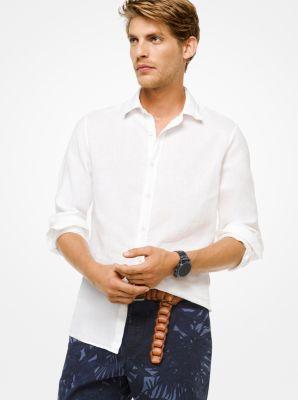 마이클 코어스 클래식핏 린넨 셔츠 Michael Kors Tailored/Classic-Fit Linen Shirt