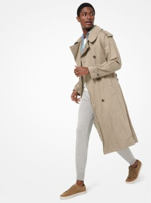 Michael Kors Crushed Cotton Trench Coat,SAND