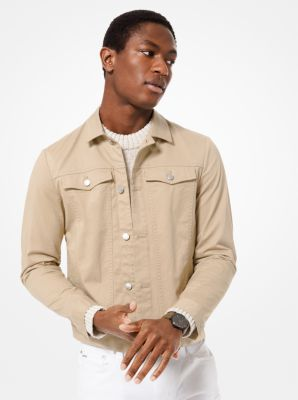 Michael Kors Stretch Cotton-Twill Trucker Jacket,CHINO