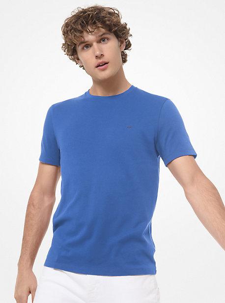 MK T-shirt en coton - GRECIAN BLUE - Michael Kors