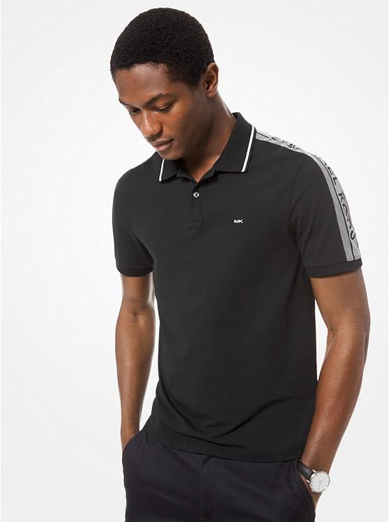 Logo-Sleeve Stretch-Cotton Polo Shirt | Michael Kors