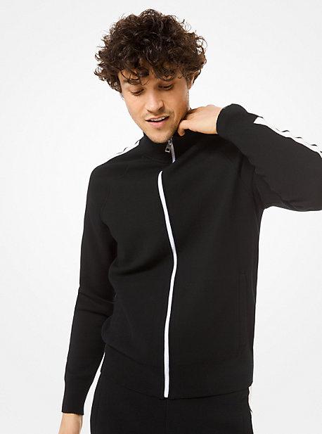 Veste de survêtement en mélange de coton avec bandes contrastées - NOIR(NOIR) - Michael Kors