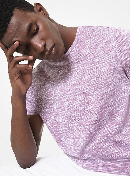 MK T-shirt en mélange de coton - VIN(ROUGE) - Michael Kors
