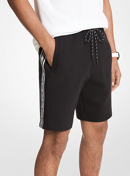 MK Short en coton mélangé avec bande à logos - NOIR(NOIR) - Michael Kors