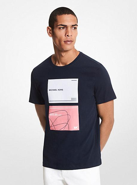 MK T-shirt en coton à imprimé logo - DRK MIDNIGHT - Michael Kors