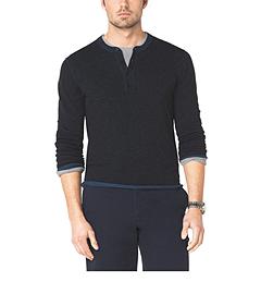 Stretch-Cotton Henley Shirt
