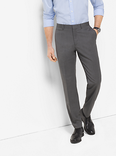 Tailored/Classic-Fit Wool Trousers by Michael Kors