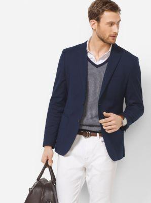 Slim-Fit Cotton-Jersey Blazer by Michael Kors