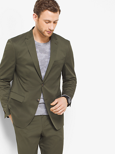 Slim-Fit Stretch-Cotton Blazer by Michael Kors