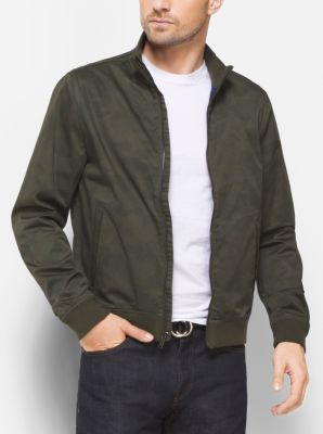 Camouflage Cotton-Sateen Bomber Jacket by Michael Kors