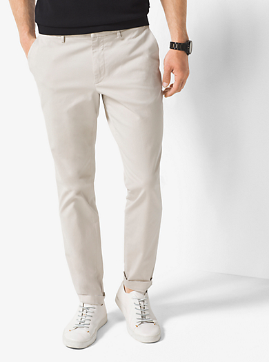 Slim-Fit Cotton Chinos                                  by Michael Kors
