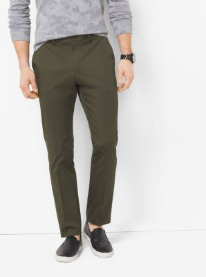Slim-Fit Stretch-Cotton Trousers  by Michael Kors