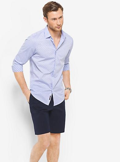Slim-Fit Dot-Print Shirt by Michael Kors