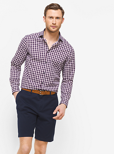 Tailored-Fit Check Cotton Shirt by Michael Kors