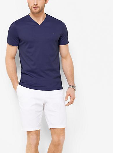Cotton V-Neck T-Shirt  by Michael Kors