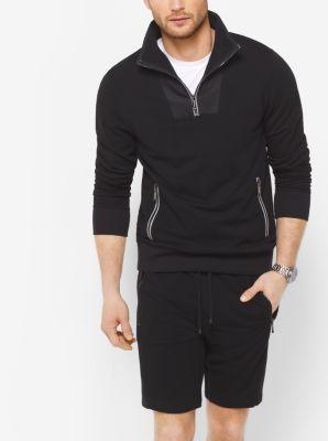 Half-Zip Fleece Sweatshirt by Michael Kors