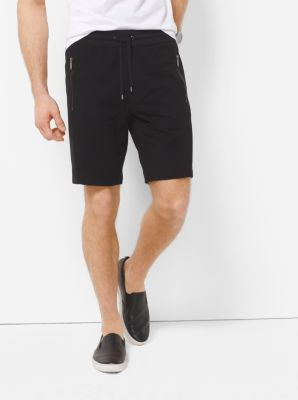 Mesh-Trimmed Knit Shorts  by Michael Kors