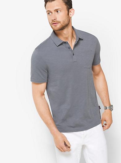Cotton Slub Polo Shirt by Michael Kors