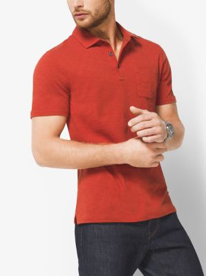 Cotton Slub Polo Shirt by Michael Kors