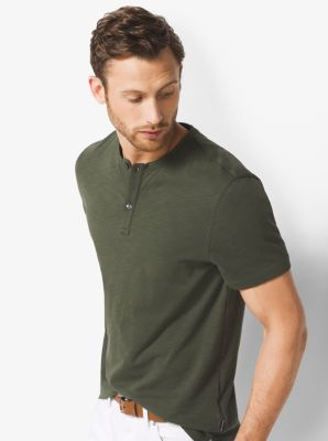 Cotton-Jersey Henley  by Michael Kors