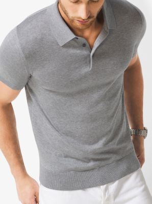 Silk and Cotton Polo Shirt by Michael Kors