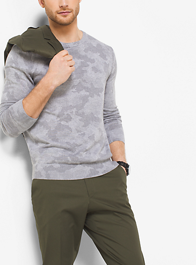 Camouflage Cotton Sweater  by Michael Kors