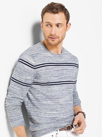 Jaspé Striped Slub-Knit Sweater by Michael Kors