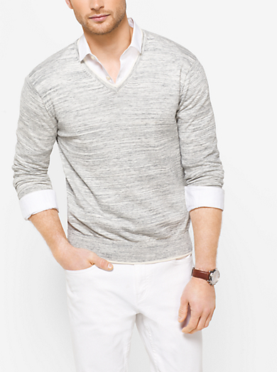 Heathered Cotton Sweater by Michael Kors