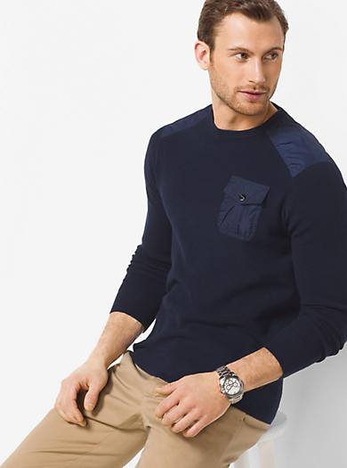Cotton Crewneck Sweater by Michael Kors