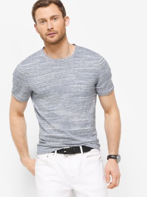 Space-Dyed Cotton T-Shirt  by Michael Kors