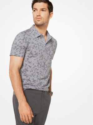 Camouflage Cotton Polo Shirt by Michael Kors