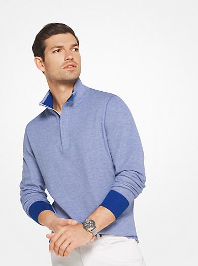 Cotton Quarter-Zip Pullover by Michael Kors