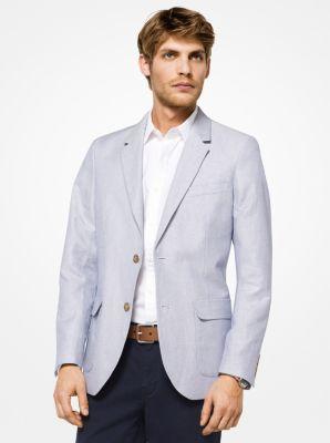 마이클 코어스 남성용 린넨 자켓 Michael Kors Cotton and Linen Blazer,NAUTICAL BLUE