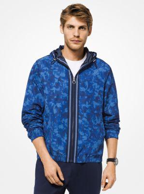 마이클 코어스 카모 후드 집업 자켓 Michael Kors Floral Camouflage Hooded Jacket,MIDNIGHT