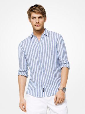 마이클 코어스 슬림핏 린년 셔츠 Michael Kors Slim-Fit Striped Linen Shirt