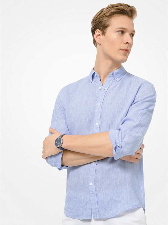 Slim-Fit Linen Shirt | Michael Kors