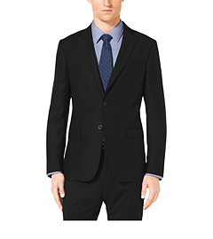 Slim-Fit Two-Button Wool Jacket