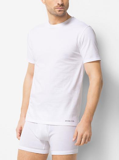 3-Pack Crewneck Cotton T-Shirt by Michael Kors