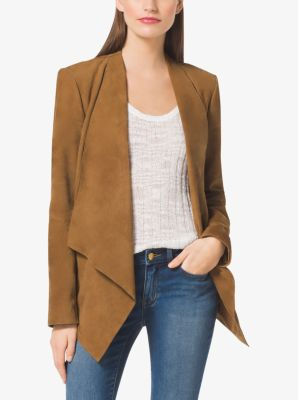 Draped Suede Jacket by Michael Kors