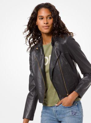 마이클 마이클 코어스 슬릭 가죽 모토 자켓 - 2 컬러 Michael Michael Kors Leather Moto Jacket