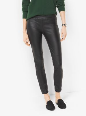 Faux-Leather Leggings by Michael Kors
