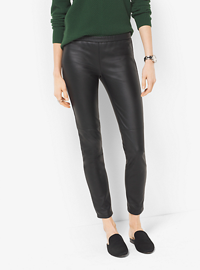 Faux-Leather Leggings by Michael Kors
