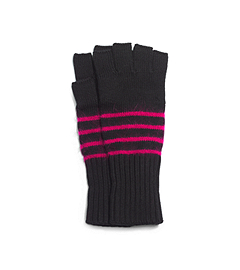 Striped Angora-Blend Fingerless Gloves