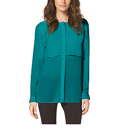 Double-Layer Panel Blouse